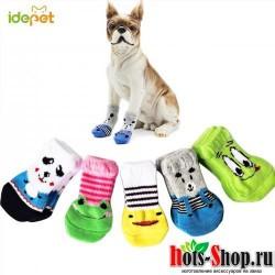 4 шт. носки для домашних животных для собак Носки для кошек