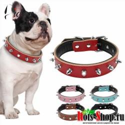 1 ряд Ошейников для домашних животных с заклепками, ошейники для маленьких собак и кошек, мягкое внутреннее стеганое ожерелье с котенком для маленьких и средних собак