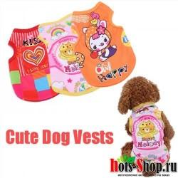 3 вида стилей, весенняя одежда для собак, одежда для щенков, Яркие Рубашки, летние жилеты для собак, одежда для маленьких собак, пижамы, костюм для питомцев S2Y2Q