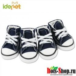 Деним Обувь Спорт против скольжения тапки Повседневное Pet Обувь для собак Тедди Йорки Сапоги и ботинки для девочек обувь больших размеров 25S1
