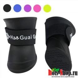 Водонепроницаемые ботинки для собак уличные носки для обуви от дождя большого размера для чихуахуа 4 шт.