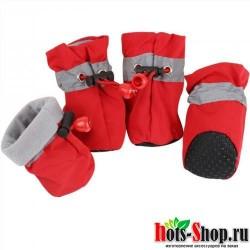 4 шт. противоскользящая обувь для собак весенние сапоги для собак пинетки для щенков товары для домашних животных 1c30