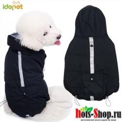Зимняя Теплая Одежда для собак черная теплая одежда для кошек пальто, зимняя одежда 35