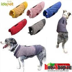 Зимняя одежда для домашних животных теплая куртка для больших собак Двусторонняя одежда для щенков водонепроницаемый жилет для животных куртка для маленьких средних и больших собак 30