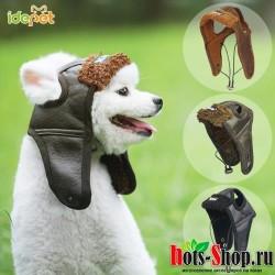 Теплый кожаный шлем летчика для собак шапки забавная Косплей шапка для собаки на Хэллоуин, для чихуахуахуа 35