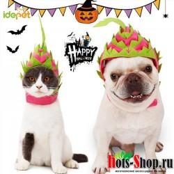 Хэллоуин для домашней собаки подшлемник для кошки фруктовая шляпа милые шапки для собак вечерние рождественские игрушки Аксессуары для кошки, собаки 35