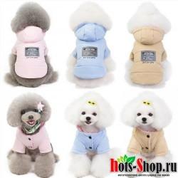 Теплая зимняя хлопковая куртка для собак одежда для кошек куртка толстая зимняя одежда для собак 40
