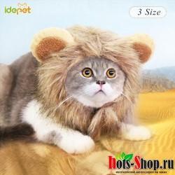 Забавная шляпа для животных для маленьких собак шапка с эмуляцией шерсти льва шарф для питомцев праздника, на возраст от 30 до 30 лет