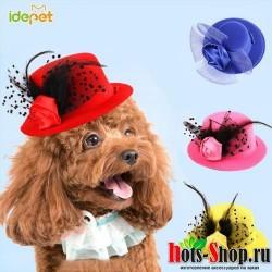 Разноцветные шапки для собак и женщин головные уборы для маленьких и средних размеров аксессуары для костюмированной вечеринки 25