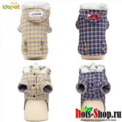 Теплая зимняя хлопковая куртка для собак толстовки толстое хлопковое пальто для собак кошек, 45