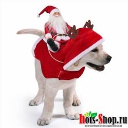 Забавный костюм для собак костюм с изображением оленя одежда для собак одежда для собак, вечерние костюмы