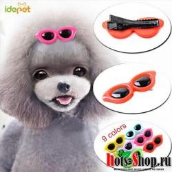 3 шт./компл. заколки для волос с милыми сердечками, солнцезащитные очки для домашних животных, банты для собак, заколки для волос для маленьких щенков, собак, кошек, йоркширских терьеров, украшение для волос 35