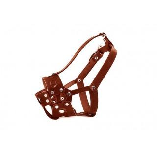 Кожаный намордник для пород боксер, размер 25 см, прогулочный, натуральная кожа, изготовление на заказ